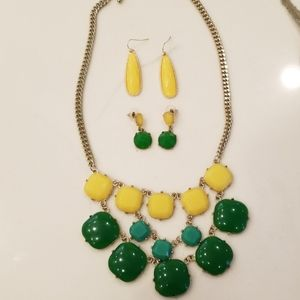 Beautiful necklace and (2) set of earrings